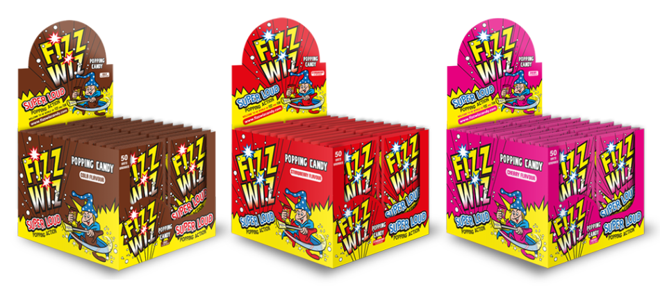 fizz wiz candy display